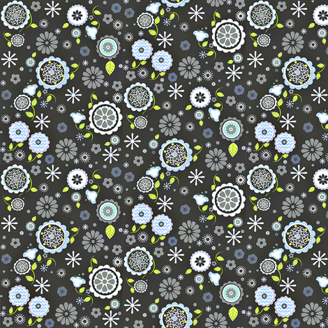 Mita Ditsy Print fabric by natitys on Spoonflower - custom fabric