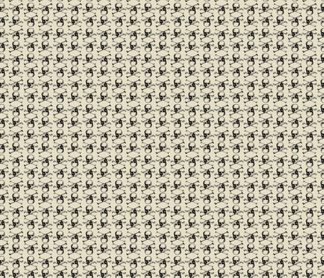halloween skulls fabric by amyteets on Spoonflower - custom fabric