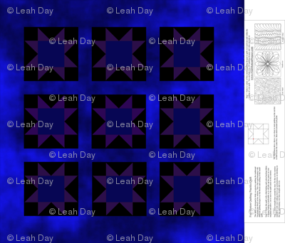 Sawtooth Star Practice Quilt - Blue