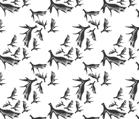 AntlerFabricOne fabric by lpulverworks on Spoonflower - custom fabric