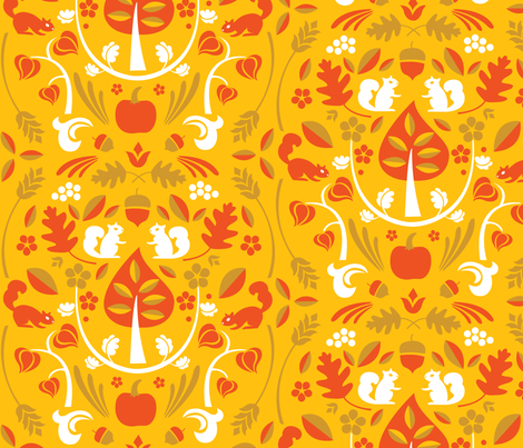 Autumn Harvest Gold fabric by acbeilke on Spoonflower - custom fabric