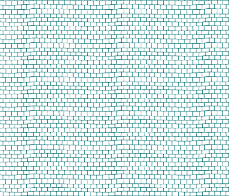 Small Tiles - blue fabric by noaleco on Spoonflower - custom fabric