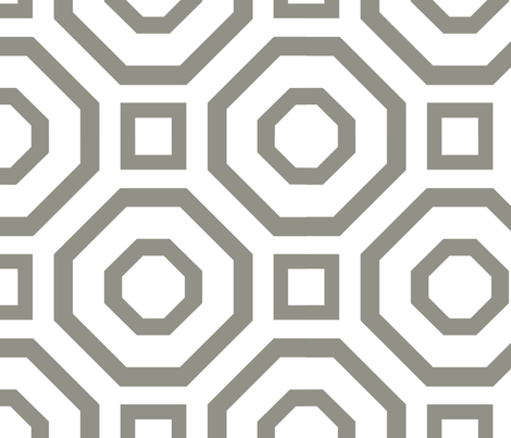 Geometry Gray fabric by alicia_vance on Spoonflower - custom fabric