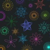 Neon Spirographs