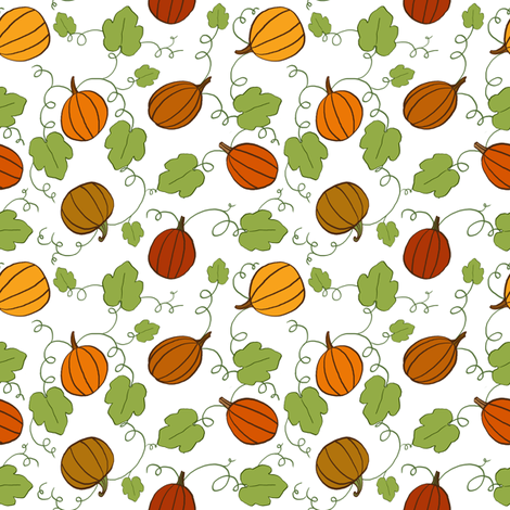Autumn Gourds fabric by nikijin on Spoonflower - custom fabric
