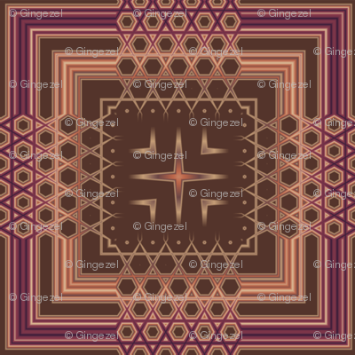 Wine and Chocolate Plaid with Stars© Gingezel™ 2011