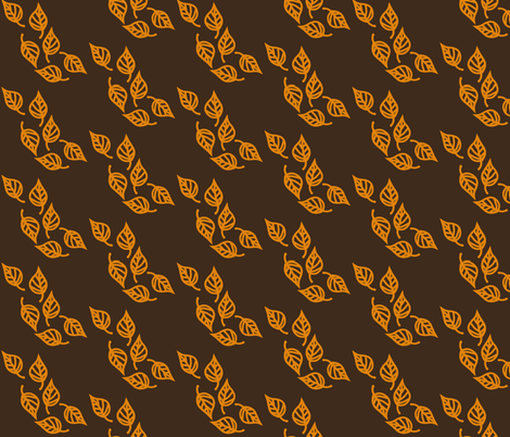 Leaves fabric by vaslittlecrow on Spoonflower - custom fabric