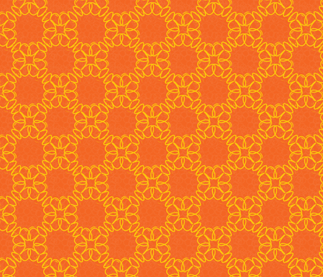 yelloworangeflower fabric by vena903 on Spoonflower - custom fabric