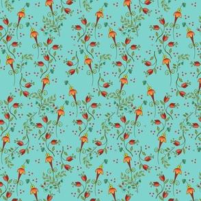 Russian Floral-ditsyaqua