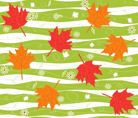 fall winds fabric by beary_organics on Spoonflower - custom fabric