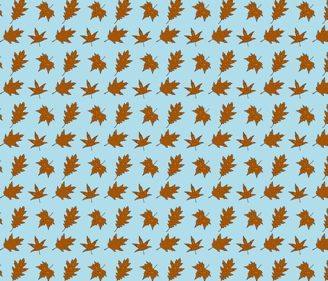 leaves fabric by rumbles on Spoonflower - custom fabric