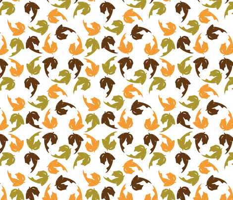 spoonflower---leaf fabric by kncpdesigns on Spoonflower - custom fabric