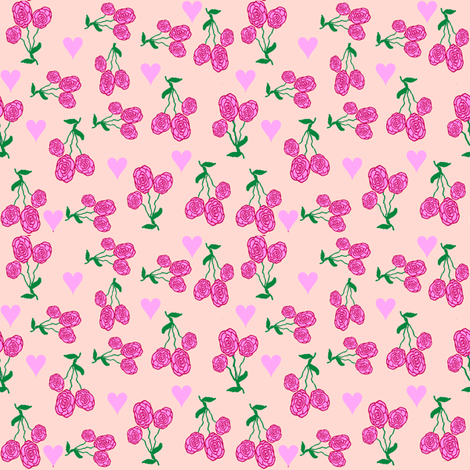 ADitzyHeartsAnRedRoses fabric by grannynan on Spoonflower - custom fabric