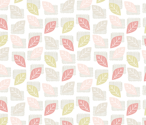 leaves fabric by mondaland on Spoonflower - custom fabric