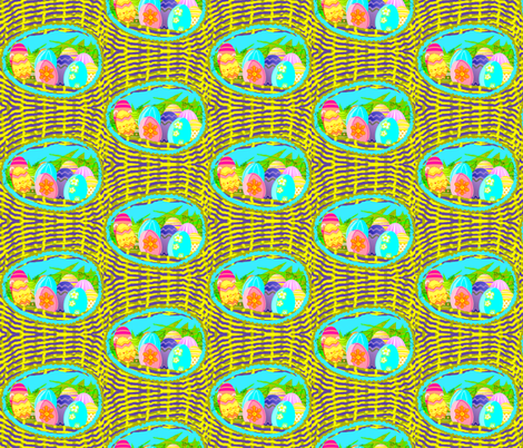 Easter Eggs Nest fabric by robin_rice on Spoonflower - custom fabric