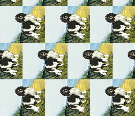 Landseer Newf on Beach Curtain Panel fabric by dogdaze_ on Spoonflower - custom fabric