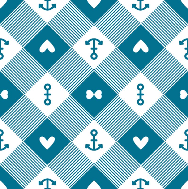 Blue Anchor Bac... Light Blue Anchor Wallpaper