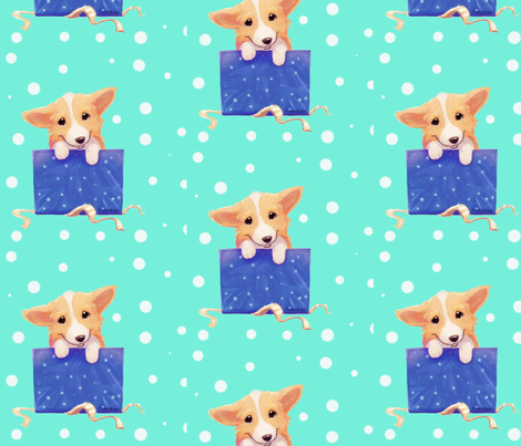 Pembroke Welsh Corgi Present fabric by designsbytirzah on Spoonflower - custom fabric