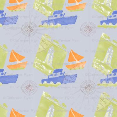 Ships Ahoy grey