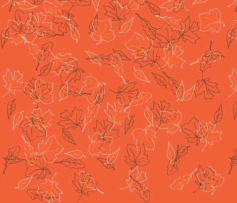 Autumn_Floor fabric by summerycreations on Spoonflower - custom fabric
