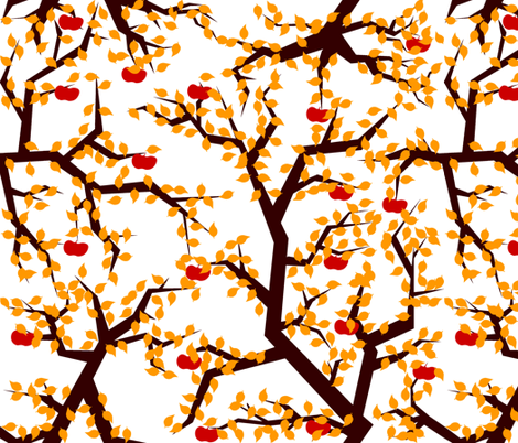 Apple-Autumn fabric by european-skies on Spoonflower - custom fabric