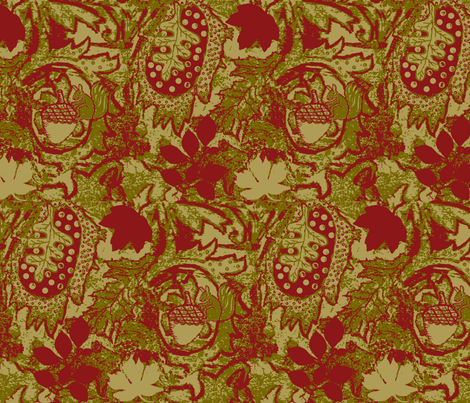 autumn squirrel fabric by paragonstudios on Spoonflower - custom fabric