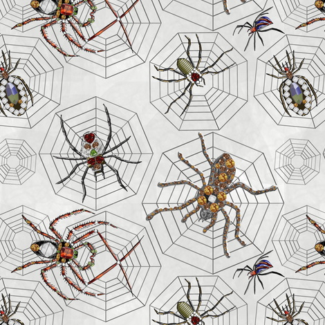 Spiders Galore fabric by mag-o on Spoonflower - custom fabric