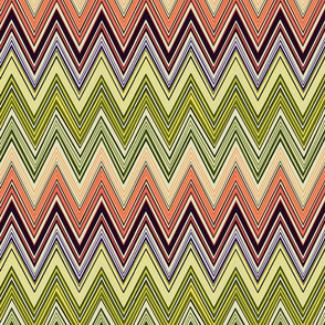 multi-colored chevron