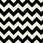 Black and Cream Chevron