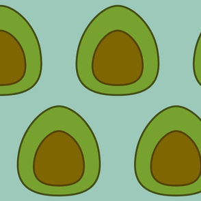 Large Avocado on Spoonflower green