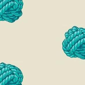 Monkey Knot Polka Dot - Blue and Aqua