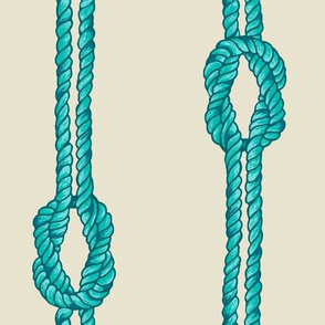 Knotte Rope - Blue and Aqua