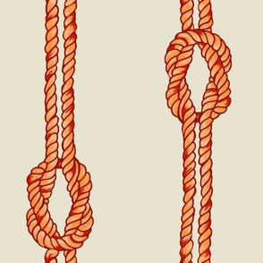 Knotted Rope - Sunset Oranges