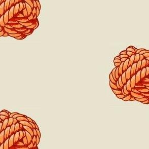 Monkey Knot Polka Dot - Sunset Orange