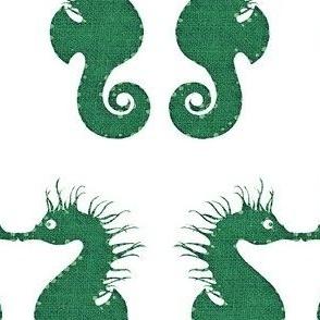 Seahorse Kisses Green