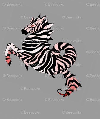Mirrored Seahorses