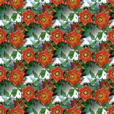christmas looking flowers fabric by upcyclepatch on Spoonflower - custom fabric