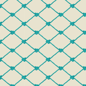 Small Crab Netting - Blue and Aqua