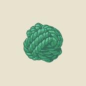 Monkey Knot Polka Dot - Sealeaf Greens
