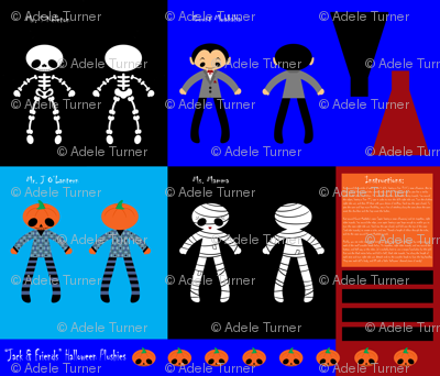 Jack & Friends (4 Halloween Plushies & Accessories). Please click to see details close-up!