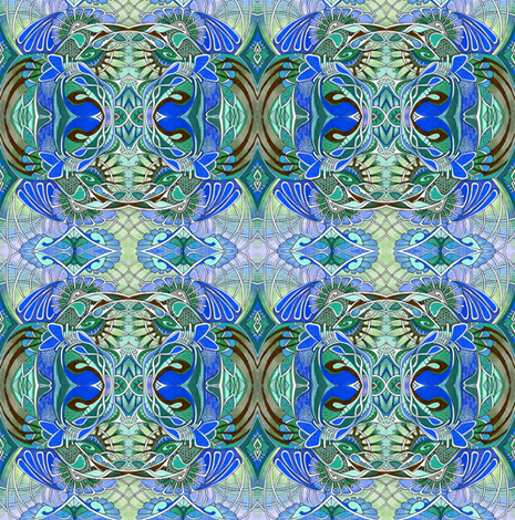 Granny's Blue fabric by edsel2084 on Spoonflower - custom fabric