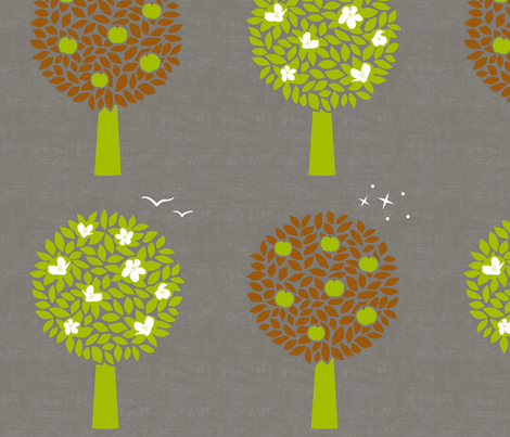 Northern Autumn, Southern Spring fabric by forest&sea on Spoonflower - custom fabric