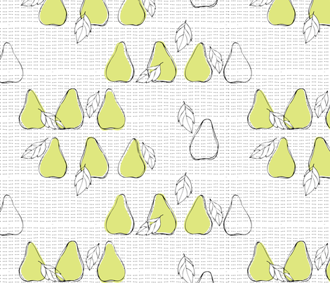 pears fabric by loki_and_lamb on Spoonflower - custom fabric