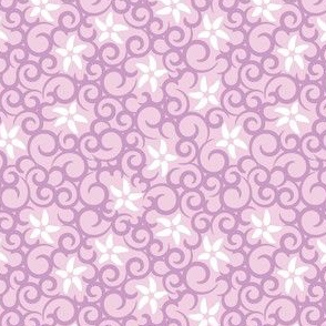 Flowers & Vines (light purple)