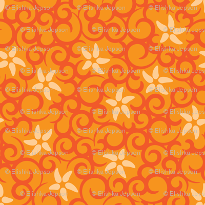 Flowers & Vines (orange)