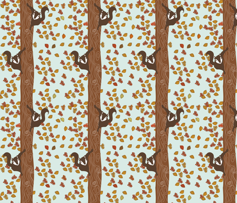Climbing Squirrels fabric by meg56003 on Spoonflower - custom fabric