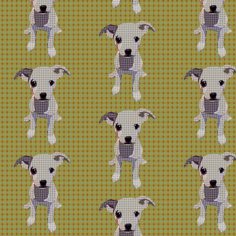 Durga The Chihuahua (Green) fabric by david_kent_collections on Spoonflower - custom fabric