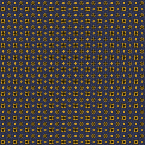 Cadet Blue with Gold and Coffee fabric by glimmericks on Spoonflower - custom fabric