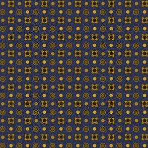 Cadet Blue with Gold and Coffee