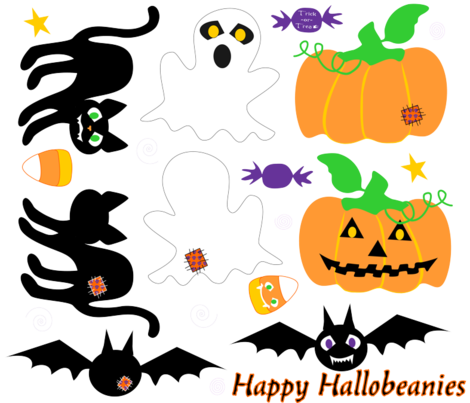 Happy_Hallobeanies fabric by mejo on Spoonflower - custom fabric